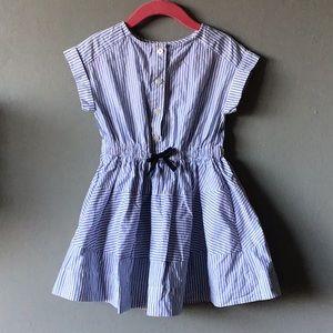 Crewcuts blue and white striped dress